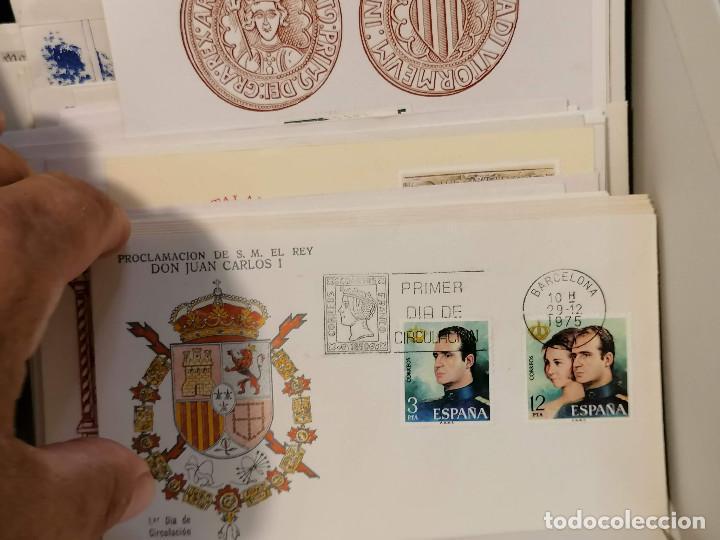 Sellos: España lote sellos caja con documentos filatelicos,spd,sobres exposiciones minimo 200 aprox - Foto 46 - 275496388