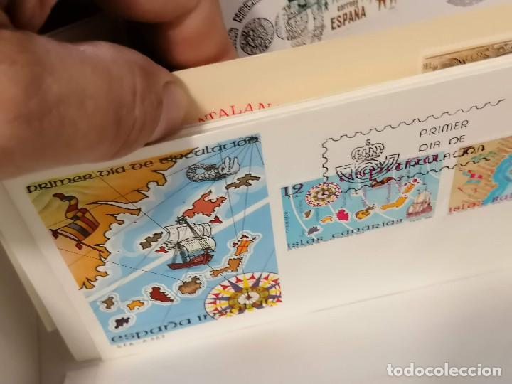 Sellos: España lote sellos caja con documentos filatelicos,spd,sobres exposiciones minimo 200 aprox - Foto 52 - 275496388