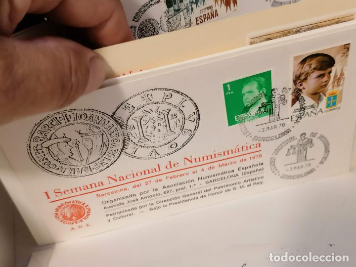 Sellos: España lote sellos caja con documentos filatelicos,spd,sobres exposiciones minimo 200 aprox - Foto 53 - 275496388