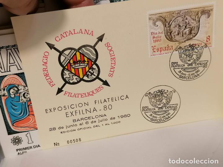 Sellos: España lote sellos caja con documentos filatelicos,spd,sobres exposiciones minimo 200 aprox - Foto 56 - 275496388