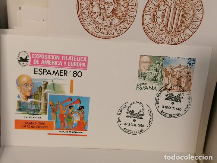 Sellos: España lote sellos caja con documentos filatelicos,spd,sobres exposiciones minimo 200 aprox - Foto 59 - 275496388
