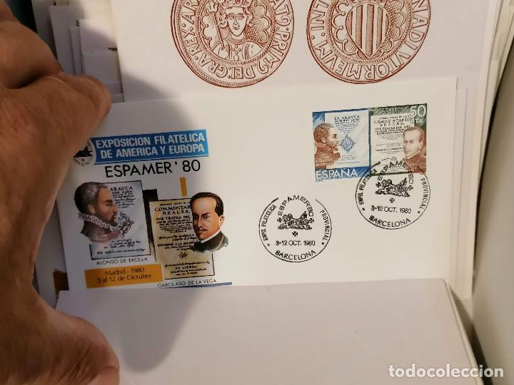 Sellos: España lote sellos caja con documentos filatelicos,spd,sobres exposiciones minimo 200 aprox - Foto 62 - 275496388
