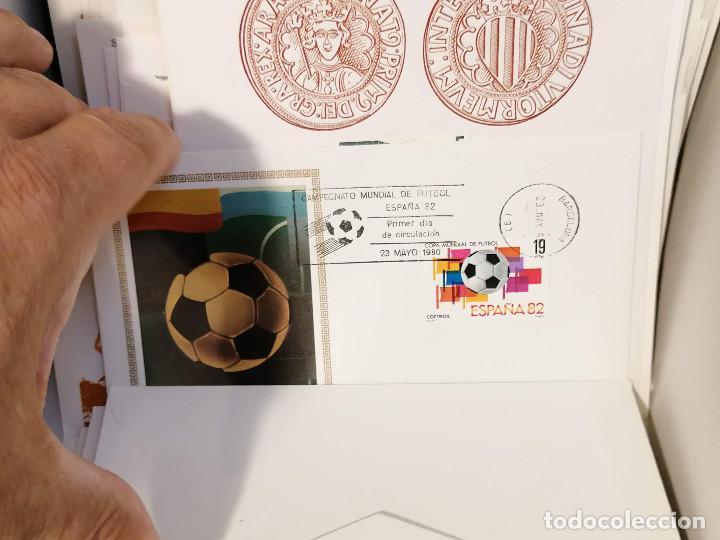 Sellos: España lote sellos caja con documentos filatelicos,spd,sobres exposiciones minimo 200 aprox - Foto 63 - 275496388