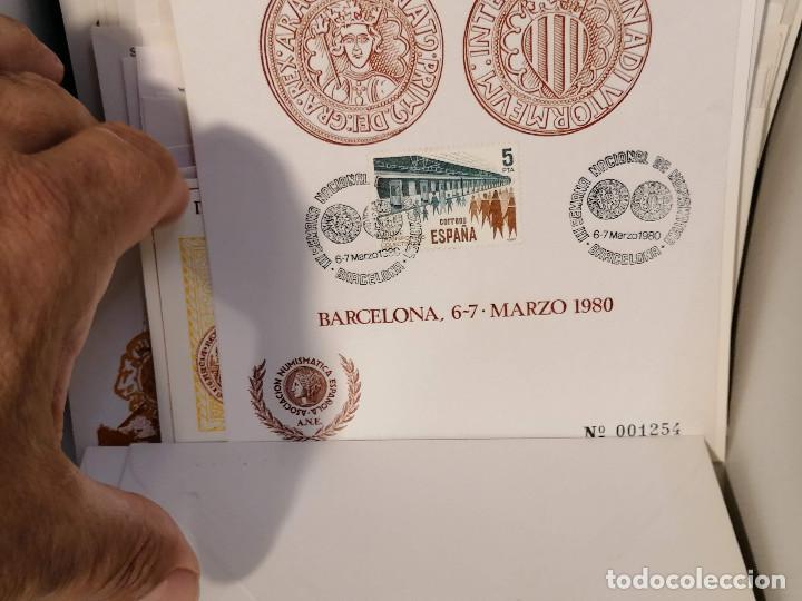 Sellos: España lote sellos caja con documentos filatelicos,spd,sobres exposiciones minimo 200 aprox - Foto 64 - 275496388
