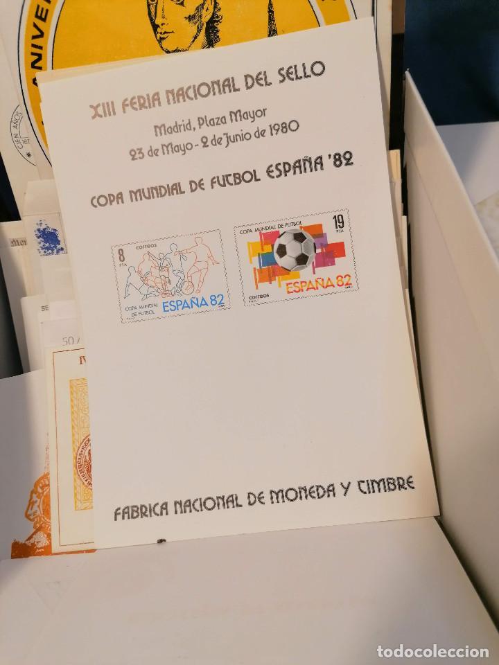 Sellos: España lote sellos caja con documentos filatelicos,spd,sobres exposiciones minimo 200 aprox - Foto 65 - 275496388