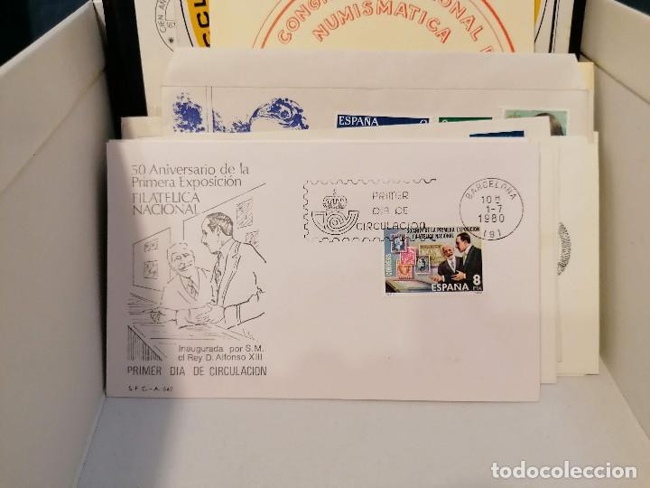 Sellos: España lote sellos caja con documentos filatelicos,spd,sobres exposiciones minimo 200 aprox - Foto 68 - 275496388