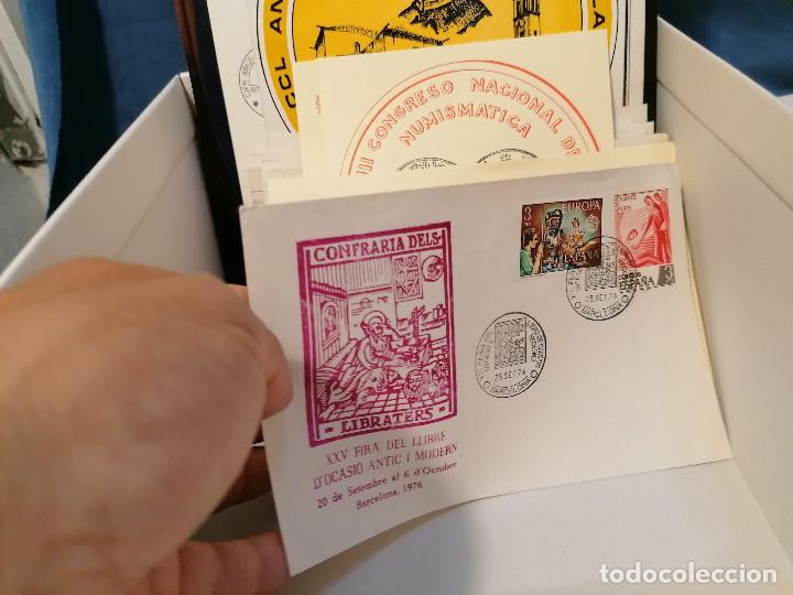 Sellos: España lote sellos caja con documentos filatelicos,spd,sobres exposiciones minimo 200 aprox - Foto 70 - 275496388