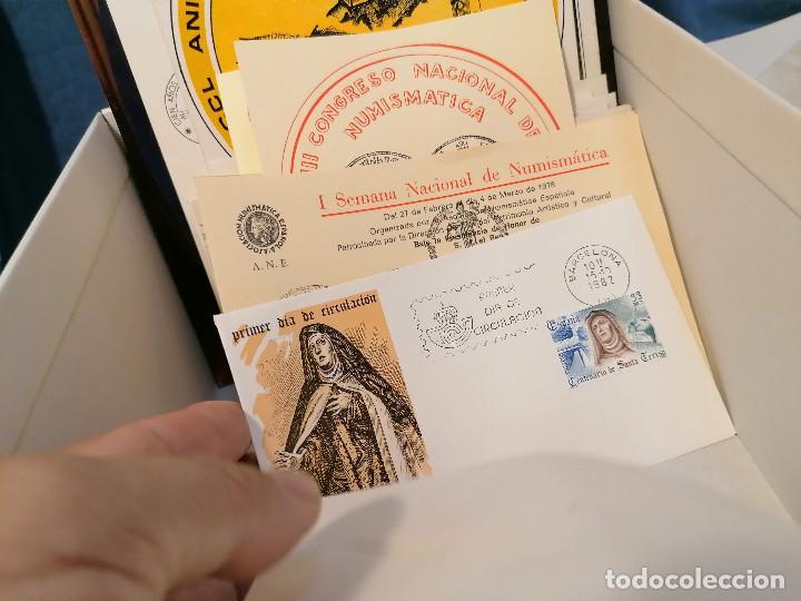 Sellos: España lote sellos caja con documentos filatelicos,spd,sobres exposiciones minimo 200 aprox - Foto 71 - 275496388
