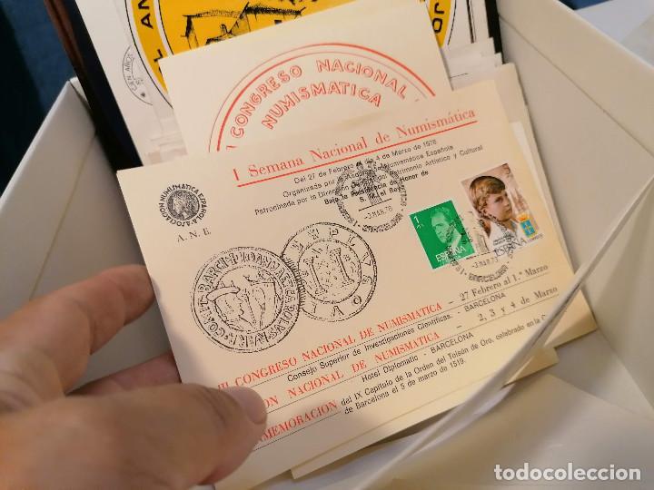Sellos: España lote sellos caja con documentos filatelicos,spd,sobres exposiciones minimo 200 aprox - Foto 72 - 275496388