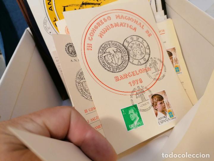 Sellos: España lote sellos caja con documentos filatelicos,spd,sobres exposiciones minimo 200 aprox - Foto 73 - 275496388