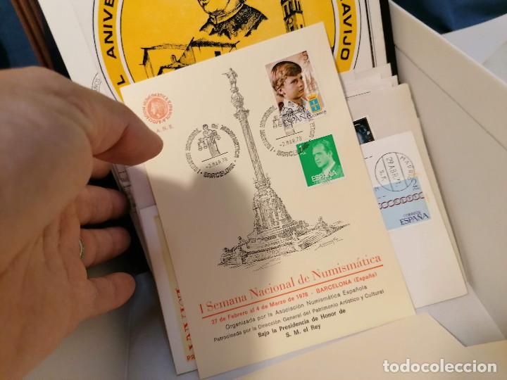 Sellos: España lote sellos caja con documentos filatelicos,spd,sobres exposiciones minimo 200 aprox - Foto 74 - 275496388