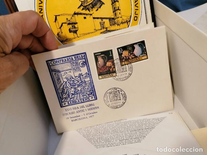 Sellos: España lote sellos caja con documentos filatelicos,spd,sobres exposiciones minimo 200 aprox - Foto 75 - 275496388