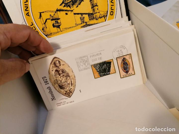 Sellos: España lote sellos caja con documentos filatelicos,spd,sobres exposiciones minimo 200 aprox - Foto 76 - 275496388