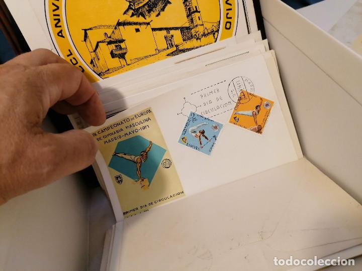 Sellos: España lote sellos caja con documentos filatelicos,spd,sobres exposiciones minimo 200 aprox - Foto 80 - 275496388