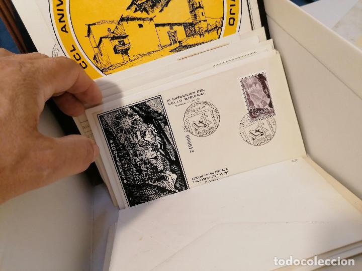 Sellos: España lote sellos caja con documentos filatelicos,spd,sobres exposiciones minimo 200 aprox - Foto 81 - 275496388