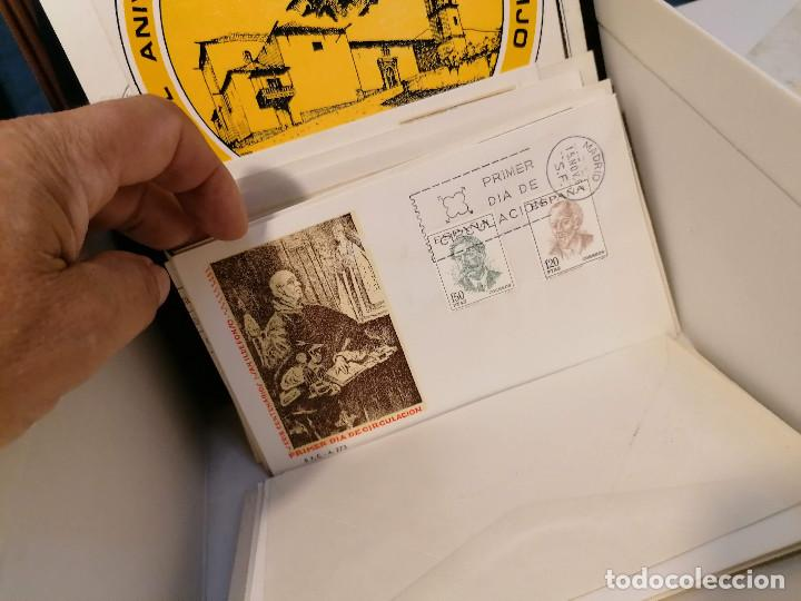 Sellos: España lote sellos caja con documentos filatelicos,spd,sobres exposiciones minimo 200 aprox - Foto 82 - 275496388