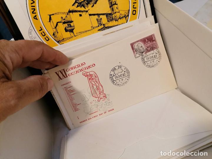 Sellos: España lote sellos caja con documentos filatelicos,spd,sobres exposiciones minimo 200 aprox - Foto 83 - 275496388