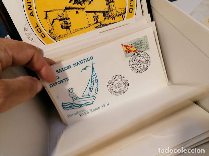 Sellos: España lote sellos caja con documentos filatelicos,spd,sobres exposiciones minimo 200 aprox - Foto 84 - 275496388