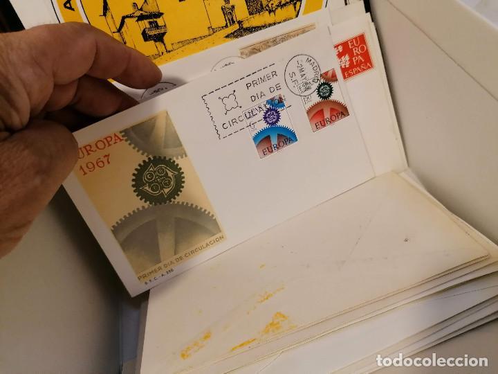 Sellos: España lote sellos caja con documentos filatelicos,spd,sobres exposiciones minimo 200 aprox - Foto 86 - 275496388