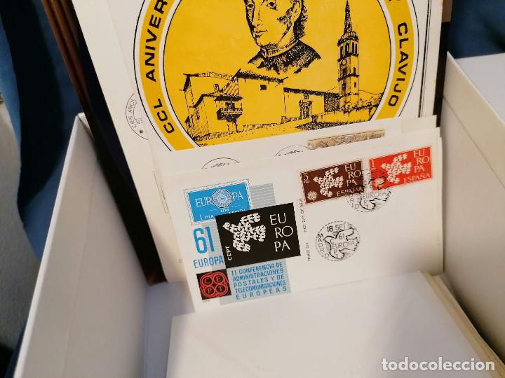 Sellos: España lote sellos caja con documentos filatelicos,spd,sobres exposiciones minimo 200 aprox - Foto 87 - 275496388