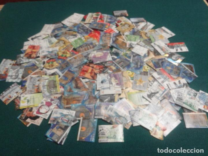 LOTE DE MAS DE 300 SELLOS USADOS EN EUROS (Sellos - Colecciones y Lotes de Conjunto)