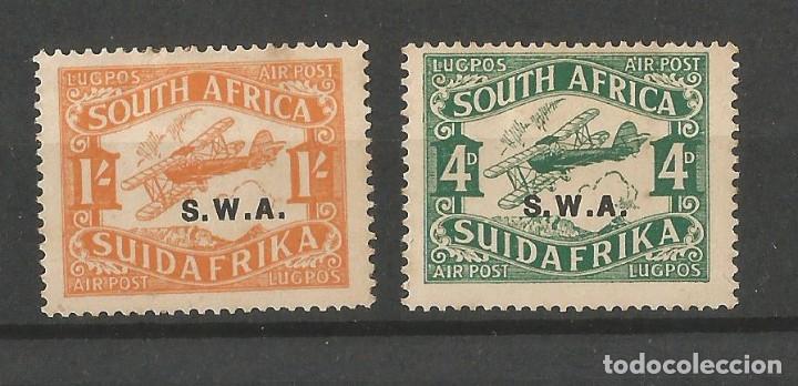 SOUTH AFRICA - SUIDA AFRIKA - SOBRECARGA SWA - AIR POST - 2 VALORES NUEVOS (Sellos - Colecciones y Lotes de Conjunto)
