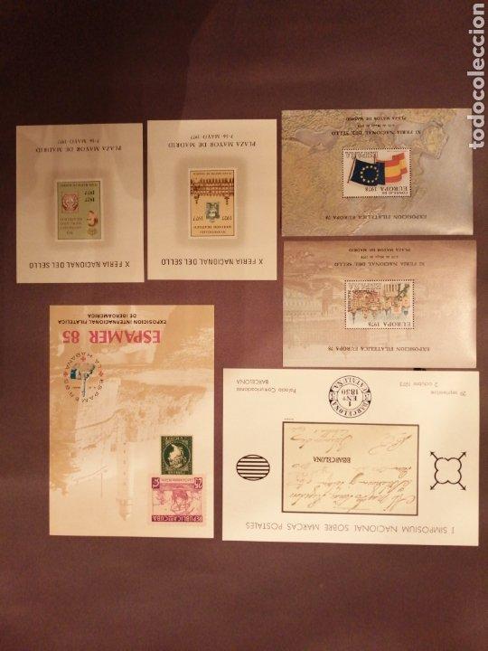 LOTE DE 6 HOJAS RECUERDO (Sellos - Colecciones y Lotes de Conjunto)