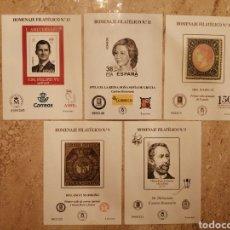 Francobolli: LOTE DE 5 HOMENAJES FILATÉLICOS. Lote 288454888