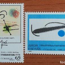 Sellos: 2 SELLOS OBRAS DE JOAN MIRÓ ESPAÑA 1993. Lote 288921858