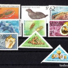 Sellos: LOTE ANIMALES MARINOS, VARIOS PAISES. Lote 289355333