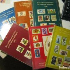 Sellos: ALEMANIA + BERLÍN 1975/76/77/78/79/80/81 COMPLETOS MONTADOS EN LIBROS DEL DEUTSCHE POST MNH** LUJO!!. Lote 289706098