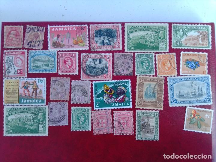 LOTE 27 SELLOS JAMAICA (Sellos - Colecciones y Lotes de Conjunto)