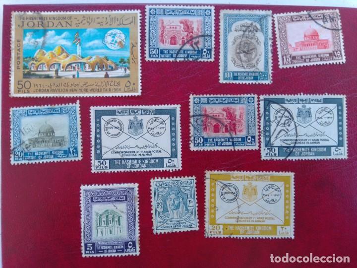 LOTE 11 SELLOS JORDANIA (Sellos - Colecciones y Lotes de Conjunto)