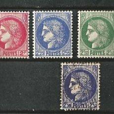 Sellos: FRANCIA - 1938 - CERES - SERIE COMPLETA - NUEVOS Y USADO. Lote 291176038