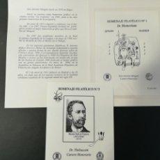 Francobolli: LOTE DE 2 HOMENAJES FILATÉLICOS SOBRECARGADOS. Lote 291460263