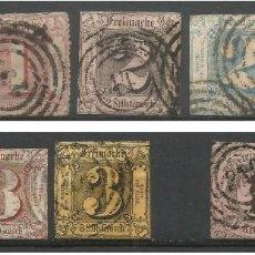 Sellos: ALEMANIA 1852 / 1866 - 10 SELLOS - THURN & TAXIS - MAS DE 300 EU DE CATÁLOGO. Lote 293659613