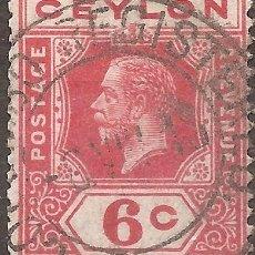 Sellos: CEYLAN COLONIA INGLESA YV 181 SCOTT 204 CATALOGO ANO 1904. Lote 294265538