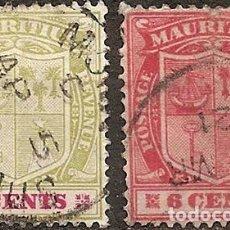 Sellos: MAURITIUS COLONIA BRITANICA ANO 1909 USADAS 2V. Lote 294266738
