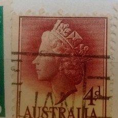 Sellos: AUSTRALIA SELLO USADO REINA VICTORIA JOVEN 4 D. Lote 294267598