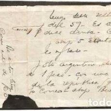 Sellos: URUGUAY FRAGMENTO SOBRE CARTA YVERT 7 COLECCION PRIVADA. Lote 294275548