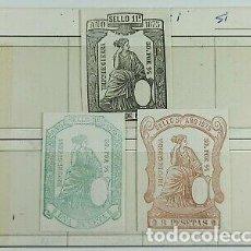 Sellos: LOTE VIÑETAS ANTIGUAS FISCALES DOCUMENTO DE GUERRA. Lote 295514618