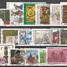 Sellos: ALEMANIA - DEUTSCHE BUNDESPOST - AÑOS 70 & 80 - LOTE DE 18 SELLOS - USADOS - BUENA CONDICIÓN. Lote 295683818