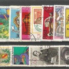 Sellos: ALEMANIA - DEUTSCHE BUNDESPOST - AÑOS 60, 70 & 80 - LOTE DE 15 SELLOS - USADOS - BUENA CONDICIÓN. Lote 295684133