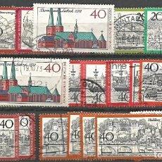 Sellos: ALEMANIA - DEUTSCHE BUNDESPOST - AÑOS 50, 60, 70 & 80 - LOTE DE 22 SELLOS - USADOS - BUENA CONDICIÓN. Lote 295684313