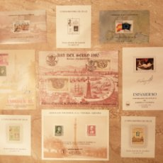 Selos: LOTE DE 9 HOJAS RECUERDO. Lote 295902728
