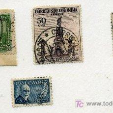Sellos: COLOMBIA - LOTE DE 4 SELLOS ANTIGUOS - VER FOTOS. Lote 8590337