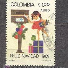 Sellos: COLOMBIA, 1969, NAVIDAD. Lote 21018633