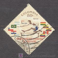 Sellos: COLOMBIA 1963, CAMPEONATO SUDAMERICANO DE ATLETISMO. Lote 21019138