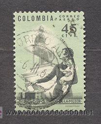 COLOMBIA 1963,DERECHOS POLITICOS DE LA MUJER (Sellos - Extranjero - América - Colombia)