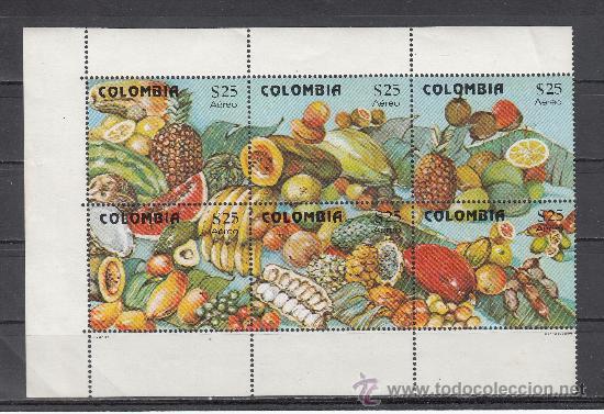 COLOMBIA A 676/81 SIN CHARNELA, PRODUCCION DE FRUTAS EN COLOMBIA (Sellos - Extranjero - América - Colombia)